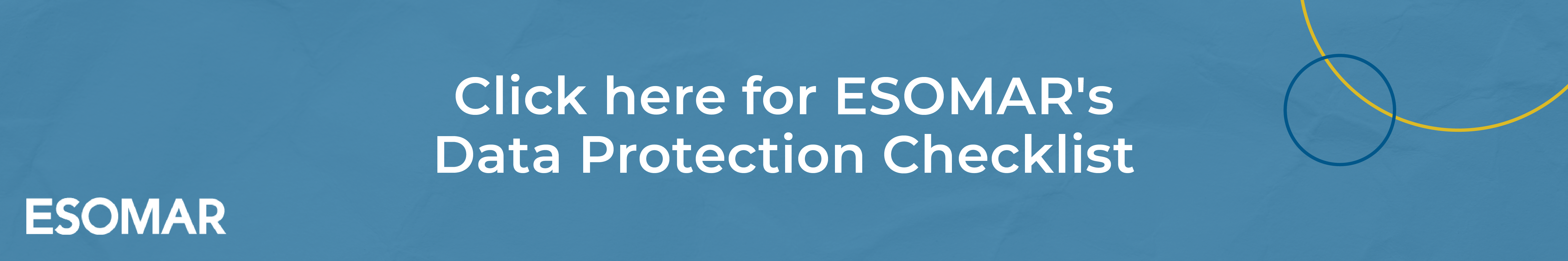 ESOMAR's Data Protection Checklist